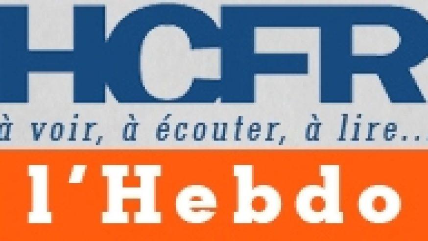 HCFR l'Hebdo n°13