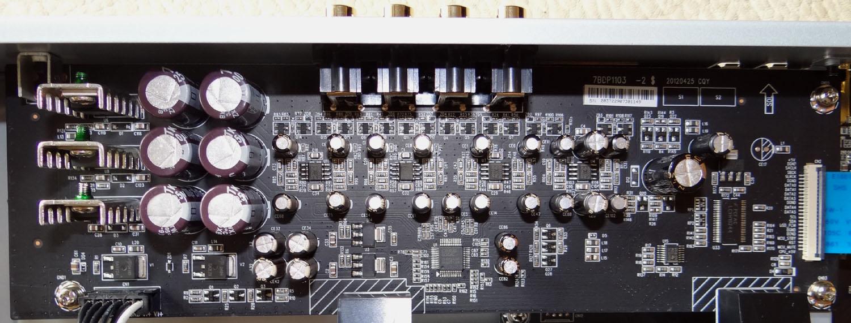 La carte audio analogique dans son ensemble