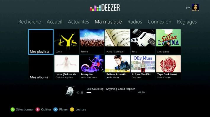 deezer sur xbox