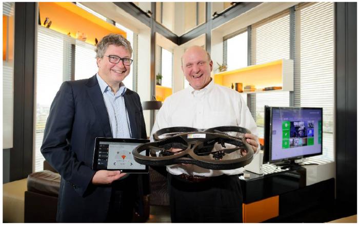 Henri Seydoux Parrot & Steve Balmer Microsoft