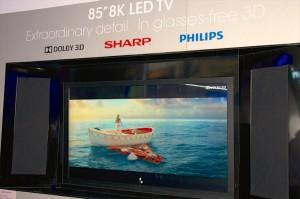 Sharp, un 85'' 4K 3D sans lunettes... Ouf !