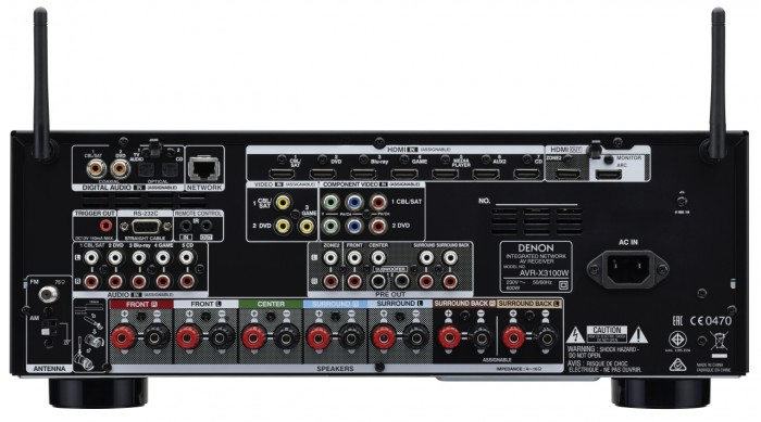 Denon_AVR-X3100W_back