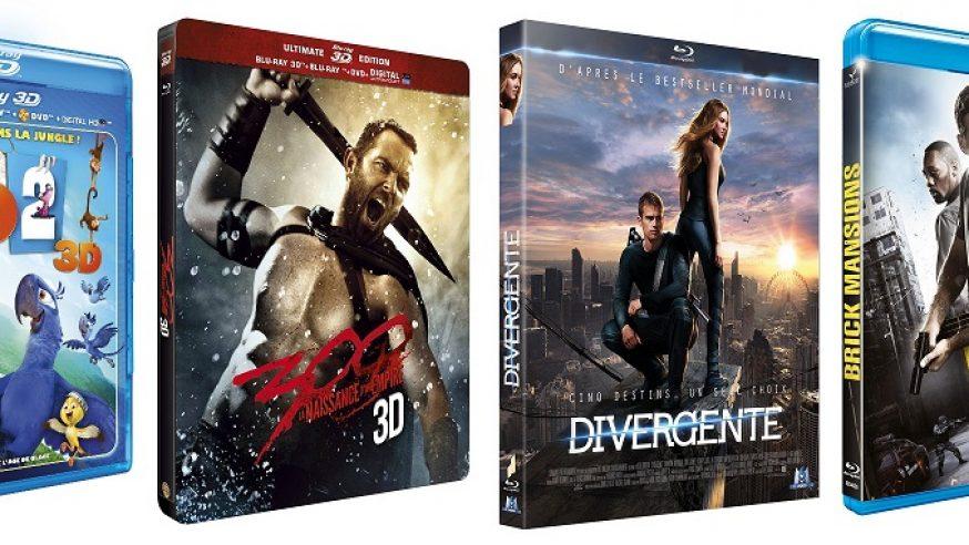 """Tests Blu-ray de la semaine : Rio 2, 300 """"2"""", Divergente & Brick Mansions"""