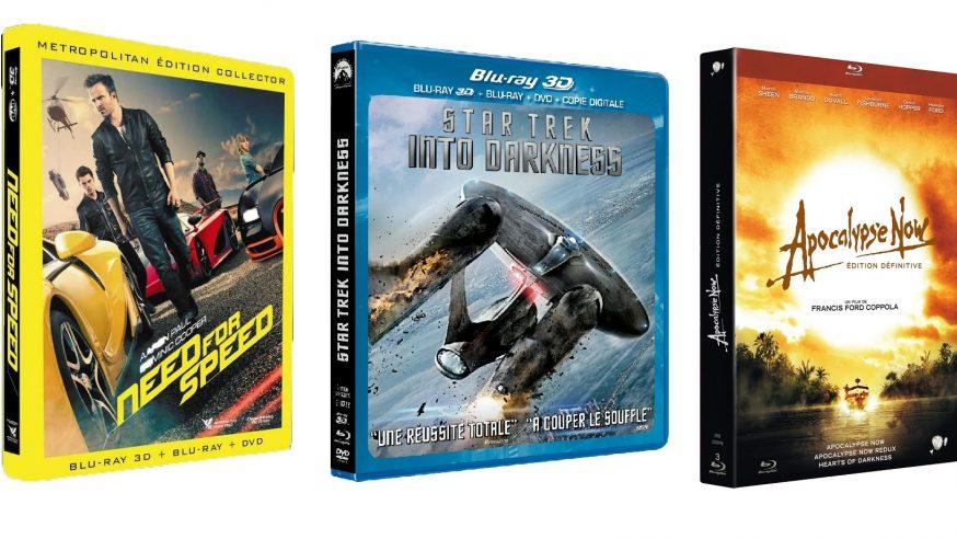 Tests Blu-ray de la semaine : Need for Speed, Star Trek Into Darkness et Apocalypse Now Redux