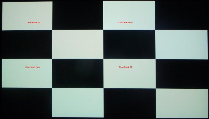 Clear black ANSI