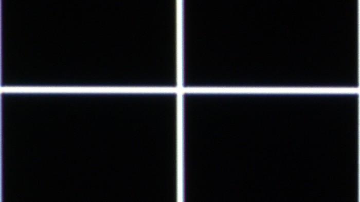 Convergence au centre de l'écran après correction.