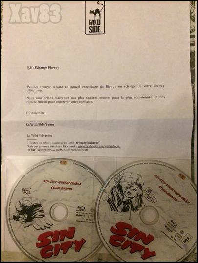 Disques de remplacement et courriers joints pour Sin City