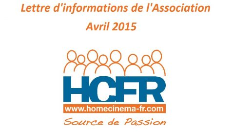 Lettre d'informations de l'Association – Avril 2015‏