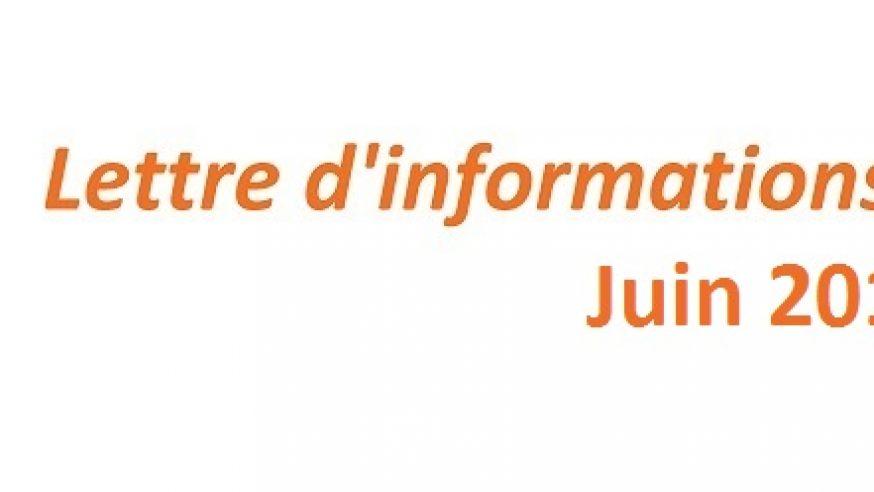Lettre d'informations de l'Association – Juin 2015