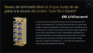 JVC Z1 source lumineuse laser BLUEscent