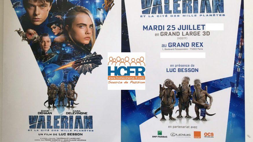 Valérian et la cité des mille planètes – l'Association des Membres HCFR a été invitée à l'avant-première