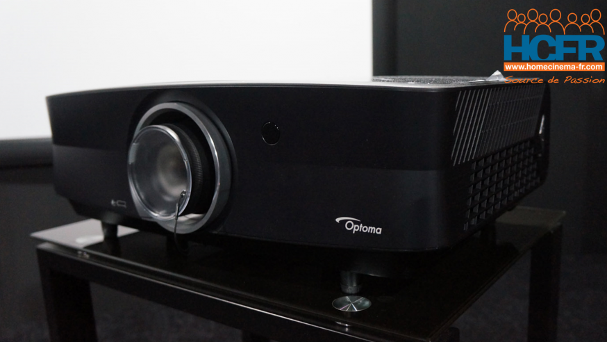 Test HCFR du Optoma UHZ65, projecteur video DLP wobulation 4K_laser