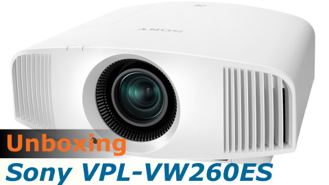 Video unboxing du Sony VPL-VW260ES, projecteur video 4K, reçu pour test HCFR