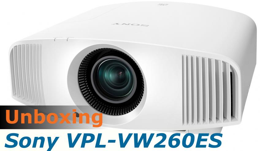 Video HCFR : Sony VPL-VW260ES, projecteur 4K – Unboxing