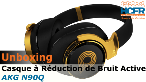 Video unboxing de l'AKG N90Q, casque audio reçu pour test HCFR