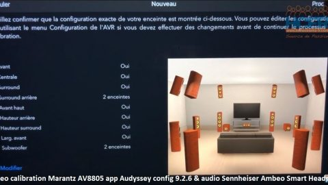 Video calibration Marantz AV8805_app Audyssey_config 9.2.6 & capture audio en binaural via Sennheiser Ambeo Smart Headset