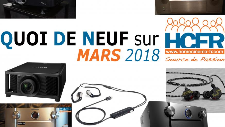 Le QDN, Quoi de Neuf sur HCFR, Mars 2018 est publié