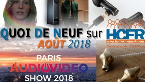 Votre QDN, Quoi de Neuf sur HCFR, Août 2018 est disponible