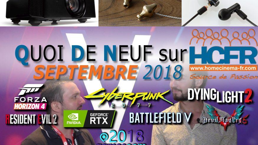Votre QDN, Quoi de Neuf sur HCFR, Septembre 2018 est disponible