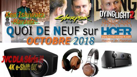 Votre QDN, Quoi de Neuf sur HCFR, Octobre 2018 est disponible