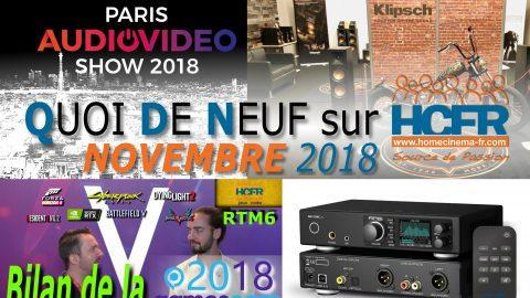 Votre QDN, Quoi de Neuf sur HCFR, Novembre 2018 est disponible