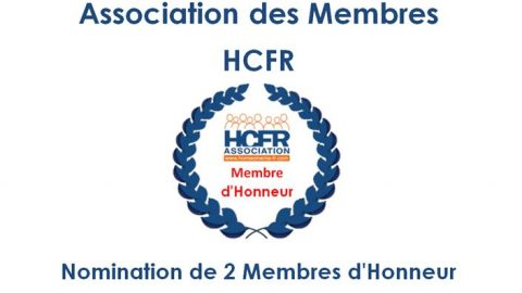 Association HCFR – Nomination de 2 Membres d'Honneur