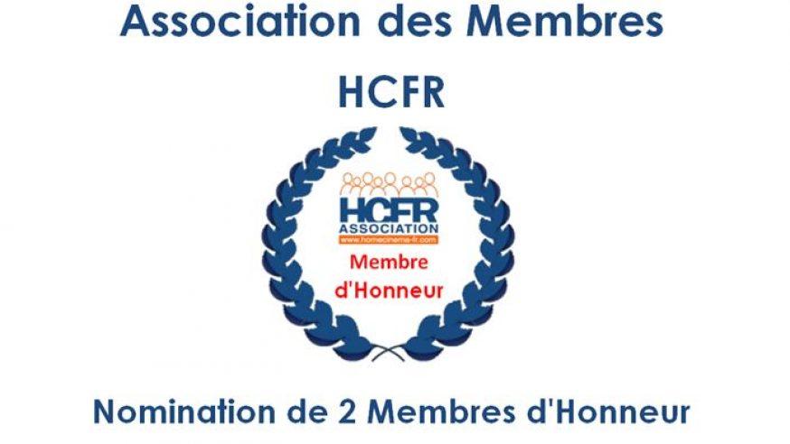 Association HCFR – Nomination de 2 Membres d'Honneur