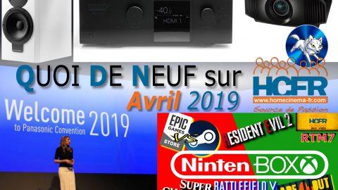 Votre QDN, Quoi de Neuf sur HCFR, Avril 2019 est disponible
