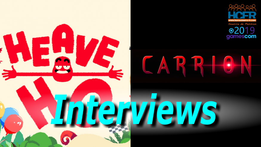[VIDEO] #GC2019:  Interviews Carrion et Heave Ho du Stand Devolver
