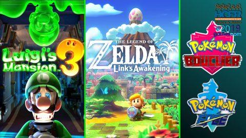 [VIDEO] #GC2019 : Retours sur Zelda Link's Awakening, Luigi's Mansion 3, Pokemon Epée & Bouclier