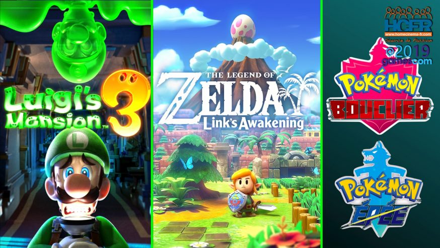 [VIDEO] #GC2019 : Retours sur Zelda Link's Awakening, Luigi's Mansion 3, Pokemon Epée & Bouclier