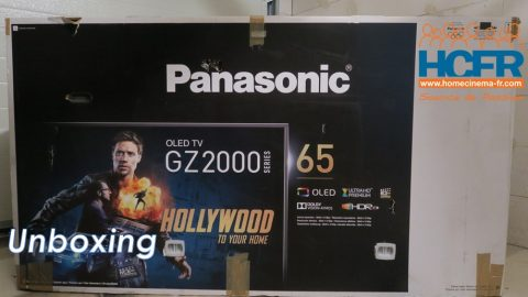 Video HCFR : Panasonic TX-65GZ2000, TV OLED – unboxing