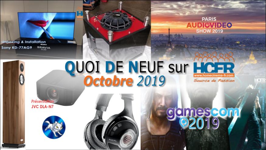 Votre QDN, Quoi de Neuf sur HCFR, Octobre 2019 est disponible
