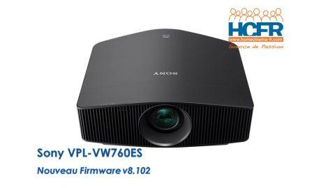 Article HCFR : Sony VPL-VW760ES, nouveau FW v8.102, présentation en préalable au test HCFR