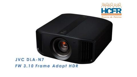 Primeur HCFR : JVC DLA-Nx, nouveau FW «Frame Adapt HDR» reçu pour test HCFR