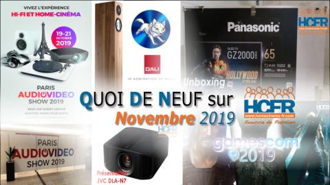 Votre QDN, Quoi de Neuf sur HCFR, Novembre 2019 est disponible