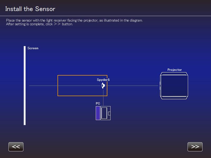 JVC Autocal - Positionnement sonde