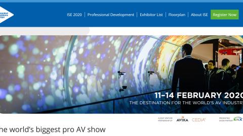 ISE 2020 – Integrated System Europe, Amsterdam – c'est demain, du Ma 11 au Ve 14 Février