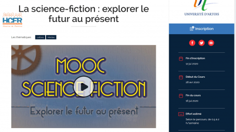 News HCFR : MOOC Science-Fiction