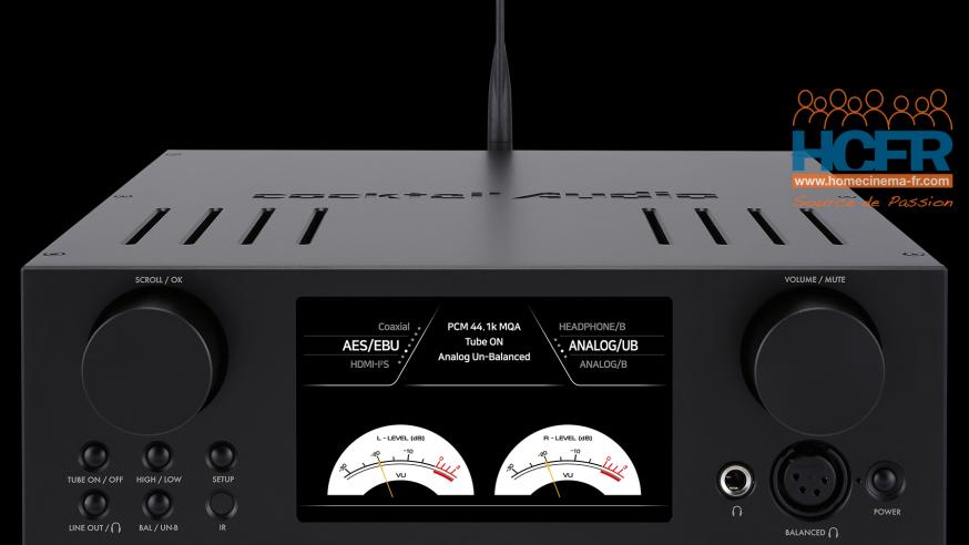 Test HCFR : Cocktail Audio HA500H, DAC, ampli hybride pour casque