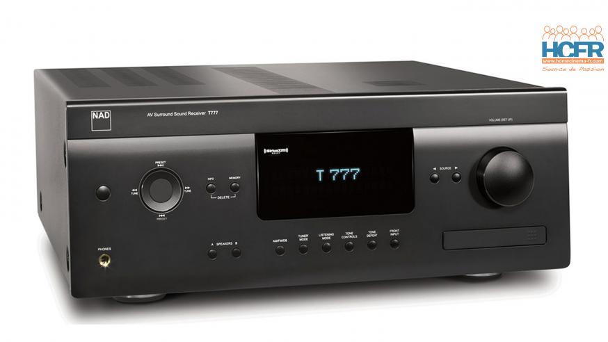 Video HCFR : NAD T777 V3, intégré HC – Menus