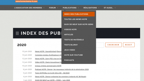 Video HCFR : le nouvel index des publications du site HCFR