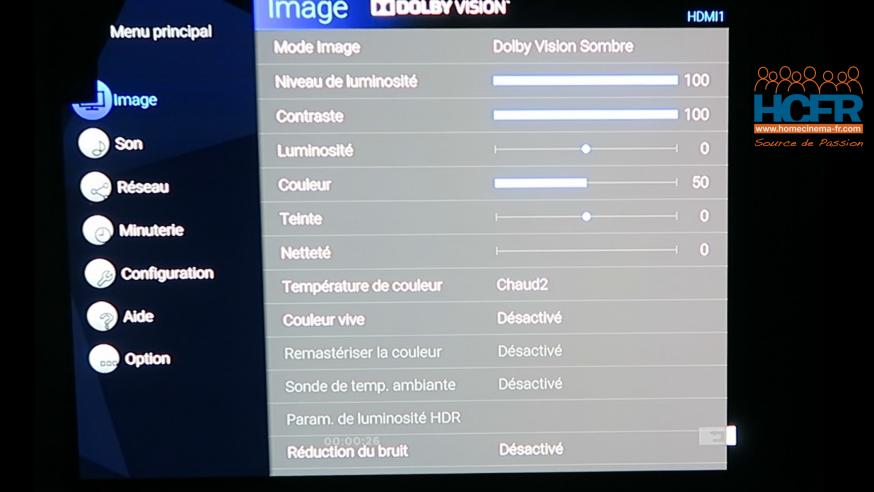 Video HCFR : Panasonic TX-65HZ2000, TV OLED – Dolby Vision & DV IQ