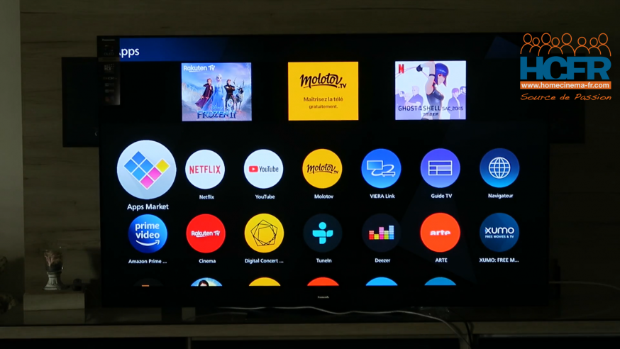 Video HCFR : Panasonic TX-65HZ2000, TV OLED – Installation & OS