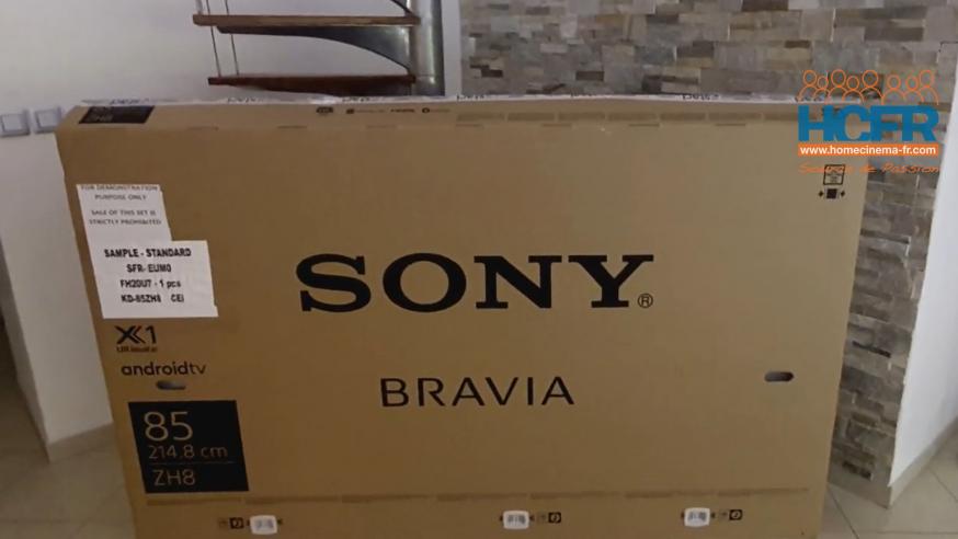 Video HCFR : Sony KD-85ZH8, TV 8K – unboxing & présentation