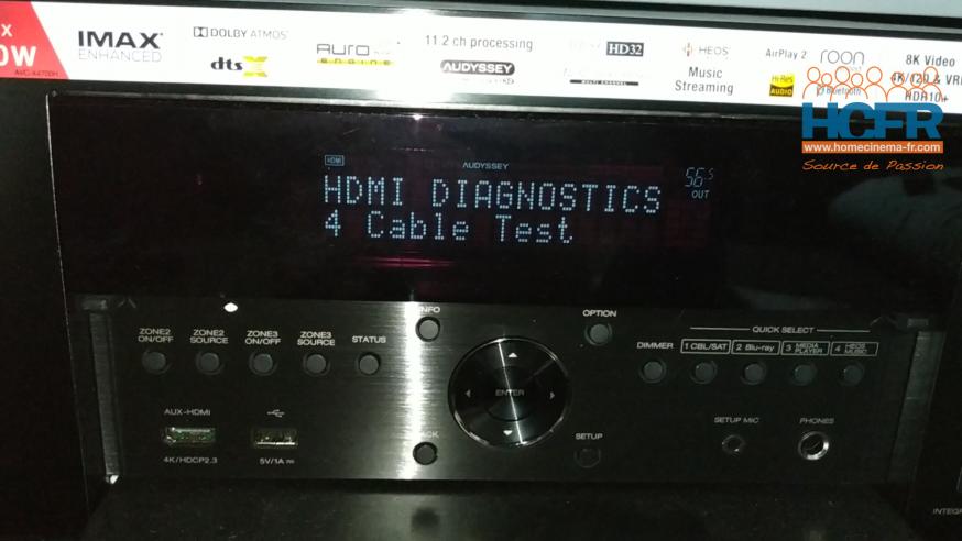 Video HCFR : Denon AVC-X4700H – Process Denon Tests Câbles HDMI
