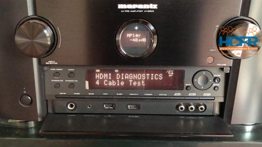 Video HCFR : Marantz AV8805 – Process Marantz Tests Câbles HDMI