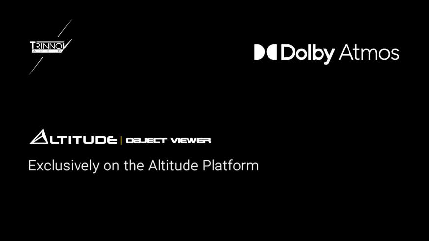 News HCFR : Trinnov Altitude 16 & 32 dotés d'un visualiseur d'objets Dolby Atmos