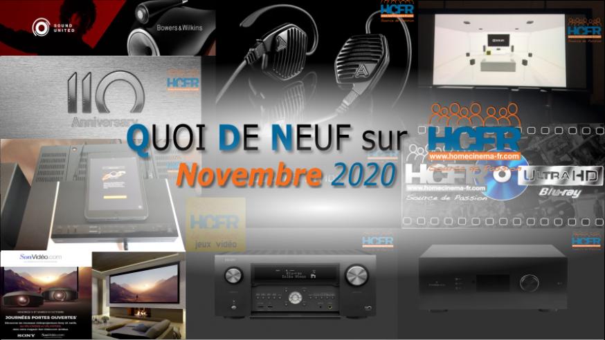QUOI DE NEUF sur HCFR  – (QDN) – Novembre 2020