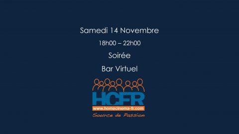 Evénement HCFR – Soirée Bar Virtuel, Samedi 14 Novembre 18h00 – 22h00